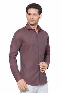 Slim Fit Partywear Shirt in a Chequered Design - SFP 5008B