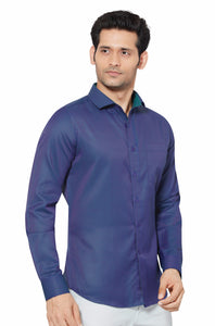 Slim Fit Partywear Shirt in a Chequered Design - SFP 5011A