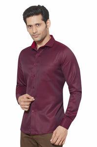 Slim Fit Partywear Shirt in a Jaquard Design - SFP 5017F