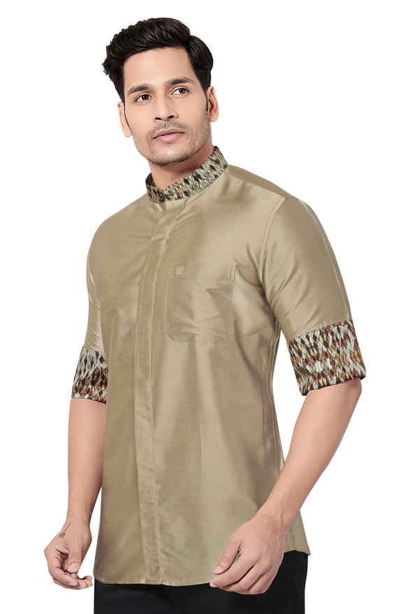 Designer Collection Partywear Art Silk Shirt - COMARS 388