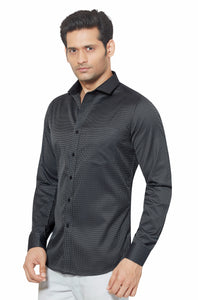 Slim Fit Partywear Shirt in a Chequered Design - SFP 5010B
