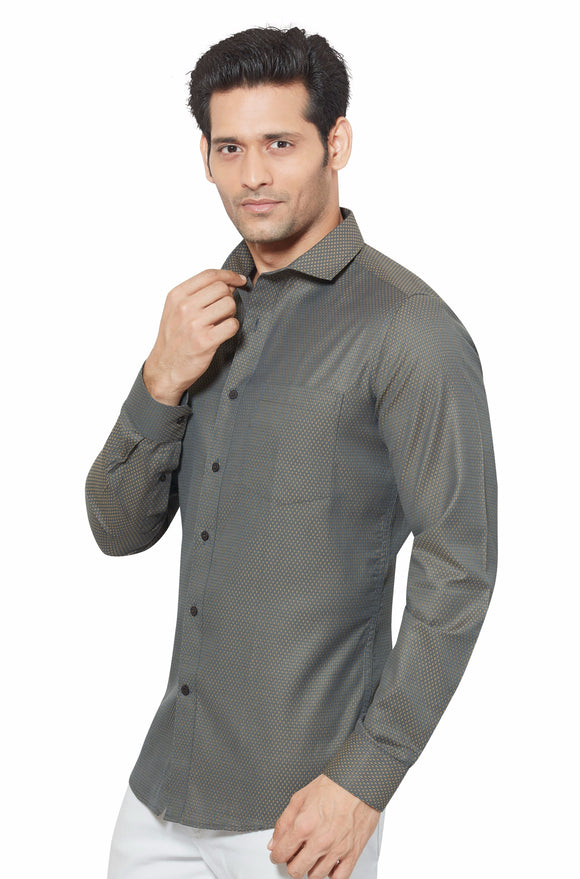 Slim Fit Partywear Shirt in a Chequered Design - SFP 5008C