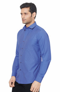 Slim Fit Partywear Shirt in a Striped Design - SFP5014B