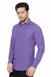 Slim Fit Partywear Shirt in a Striped Design - SFP5014D