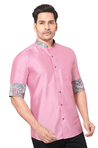 Designer Collection Partywear Art Silk Shirt - COMARS 1020