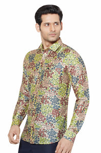 Printed Partywear Art Silk Shirt - PRARS 05