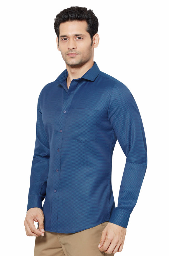 Slim Fit Partywear Shirt in a Chequered Design - SFP 5009B