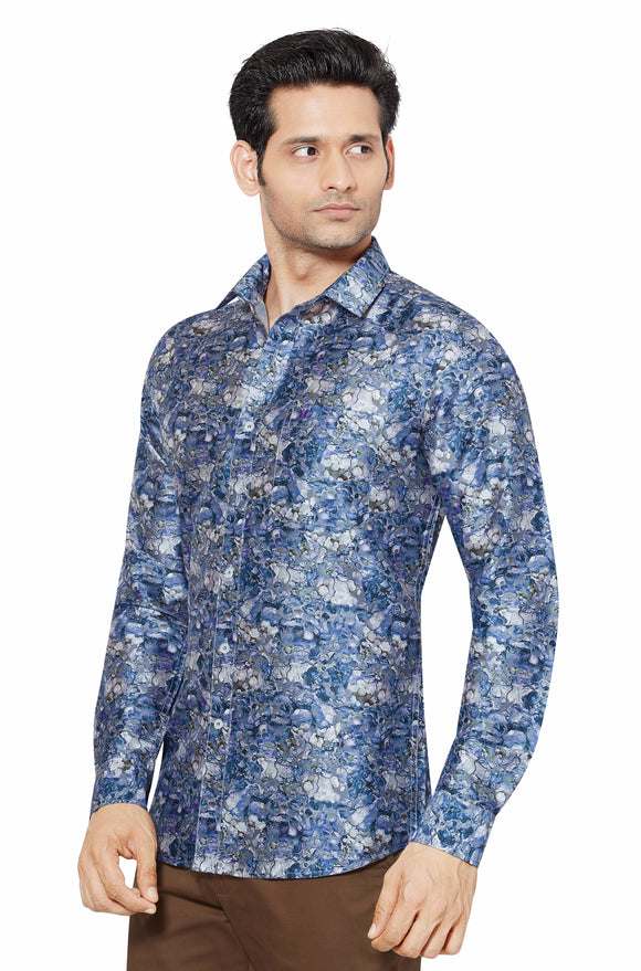 Printed Partywear Art Silk Shirt - PRARS 14