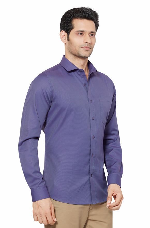Slim Fit Partywear Shirt in a Striped Design - SFP 5013C