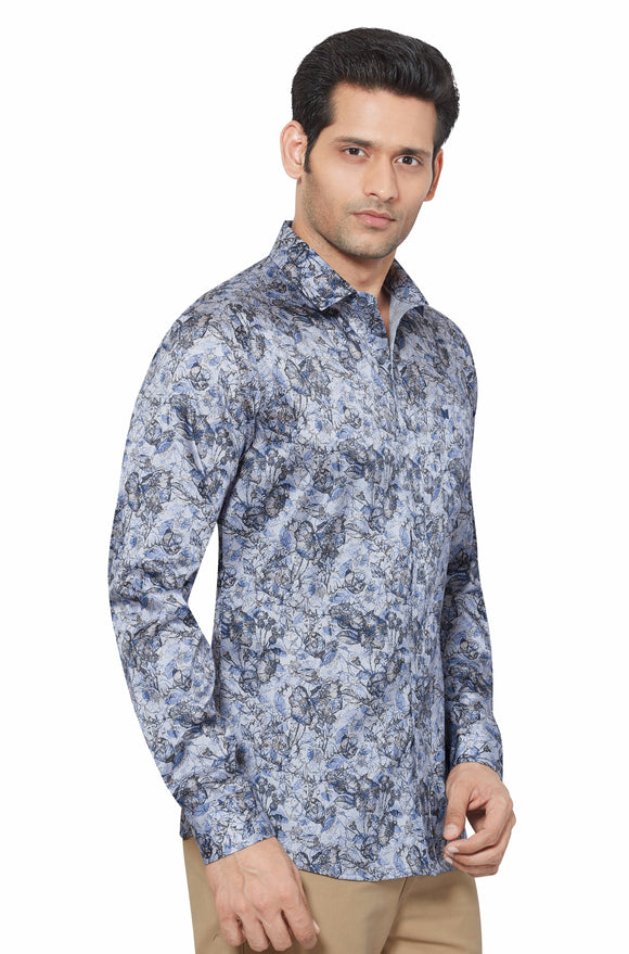 Printed Partywear Art Silk Shirt - PRARS 02