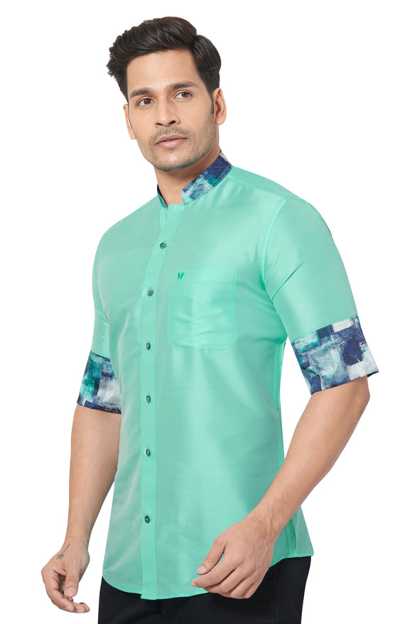 Designer Collection Partywear Art Silk Shirt - COMARS 792