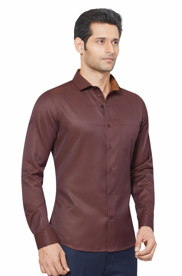Slim Fit Partywear Shirt in a Jaquard Design - SFP 5017D