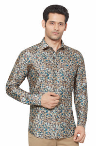 Printed Partywear Art Silk Shirt - PRARS 13