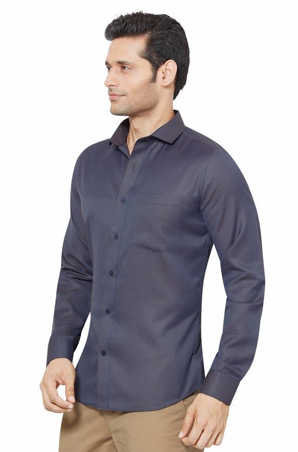 Slim Fit Partywear Shirt in a Chequered Design - SFP 5009a