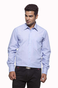 Men's Light Blue Formal Half Sleeve Cotton Shirt