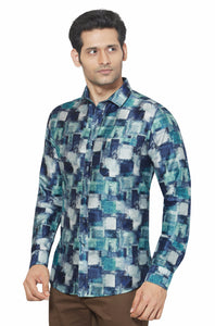 Printed Partywear Art Silk Shirt - PRARS 01