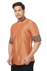 Designer Collection Partywear Art Silk Shirt - COMARS 249