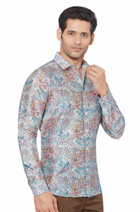 Printed Partywear Art Silk Shirt - PRARS 16