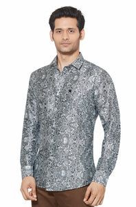 Printed Partywear Art Silk Shirt - PRARS 10