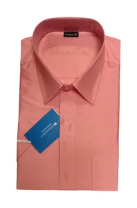 Men's Salmon Color Art Silk Shirt - ARSA 1546 C