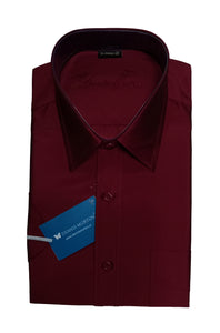 Men's Maroon Art Silk Shirt - ARSA  406