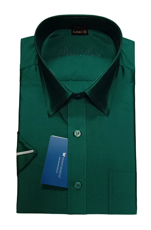 Men's Peacock Green Art Silk Shirt - ARSA 998 C