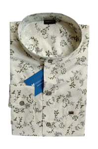 Men's Chinese Collar Cotton Printed Shirt - DCF  6070 A