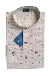 Men's Chinese Collar Cotton Printed Shirt - DCF  6072 A