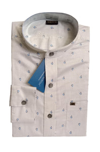 Men's Chinese Collar Cotton Printed Shirt - DCF  6073 A