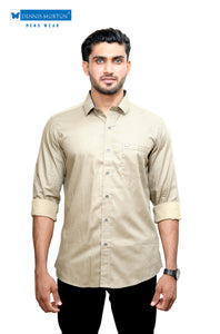 Beige Printed Casual Shirt