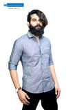 Blue Printed Casual Shirt with chilli print