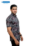 Black floral printed casual shirt