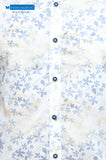 White Floral Printed Casual Shirt
