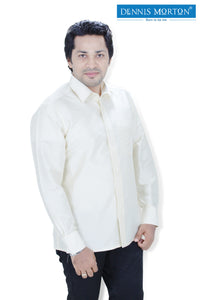 Men's Lemon Chiffon Parinaya Silk Shirt  - DSS 04