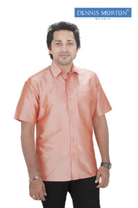Men's Peach Puff  Silk Shirt Dennis Morton - DSS 1009
