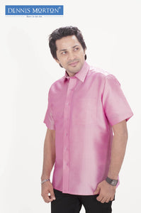 Men's Pink Silk Shirt Dennis Morton - DSS 1020