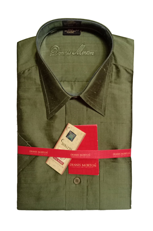 Men's Pure Silk Shirt Dennis Morton - DSS 376 A