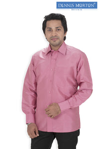Men's Pale Violet Red Silk Shirt Dennis Morton - DSS 50