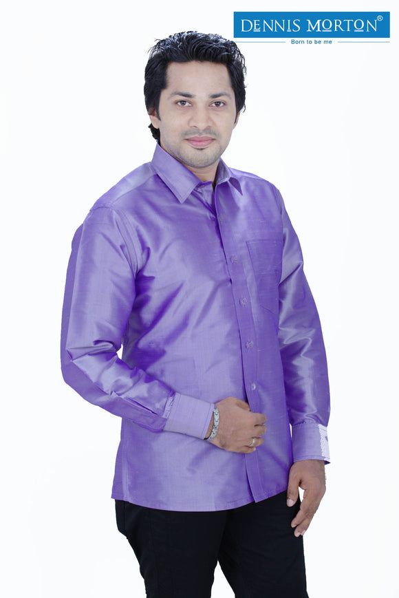 Men's Light Purple Silk Shirt Dennis Morton - DSS 833