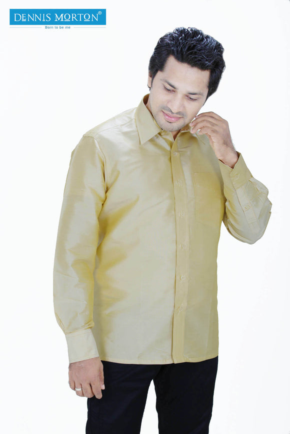 Men's Golden Yellow Silk Shirt Dennis Morton -  DSS  962