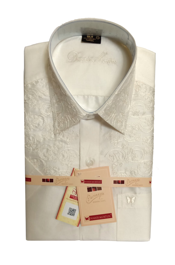 Men's Embroidery Pure Silk Shirt Dennis Morton - EMB 01 DSS 03