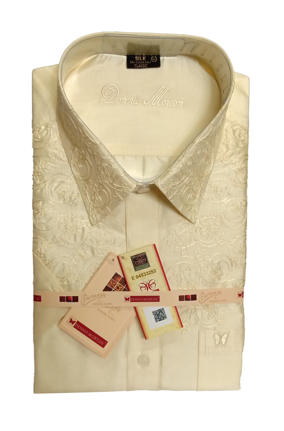 Men's Embroidery Pure Silk Shirt Dennis Morton - EMB 01 DSS 04