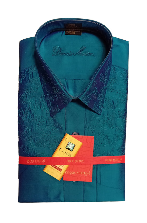 Men's Embroidery Pure Silk Shirt Dennis Morton - EMB DSS 146