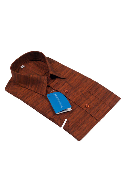 Men's Coffee Brown Shade Khadi Shirt  - KPP 02 K