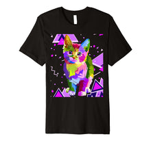 Load image into Gallery viewer, 70s 80s Party Trippy Cat Premium T-Shirt