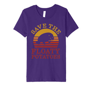 Save the floaty potatoes vintage premium t shirt