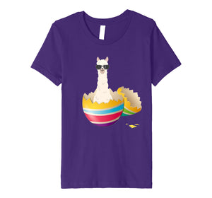 Baby Llama Hatching From Easter Egg Easter Day Shirt