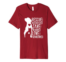Load image into Gallery viewer, Rescue, Save, Love: Animal Rescue, Dog Lover Cat Lover Shirt