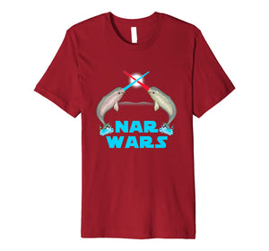 Narwhal The Great Nar Wars Parody Premium T-Shirt