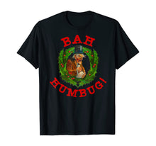 Load image into Gallery viewer, Ugly Christmas Party Scrooge Bah Humbug Christmas Wreath T-Shirt
